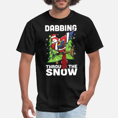 Parrot Clothes Parrot Dabbing Christmas - Men's T-Shirt