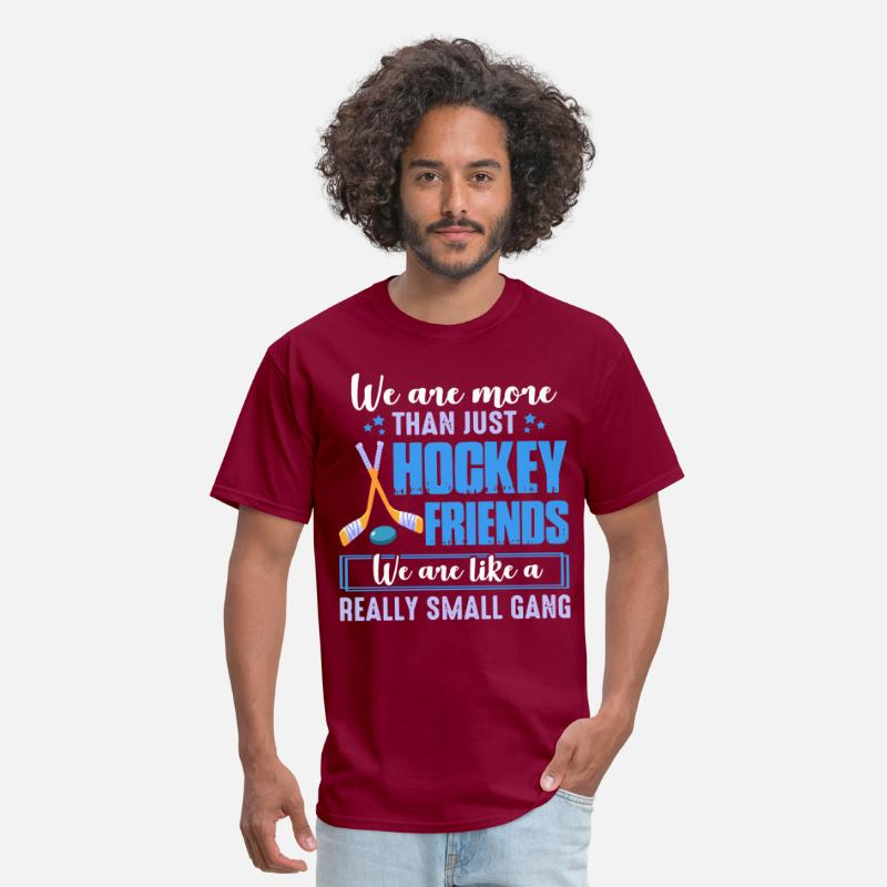 we are more than just hockey friends we are like a Men's T-Shirt - burgundy