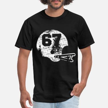 Player Number Vintage Football Jersey Number 67 Player Number fo - Men's T-Shirt