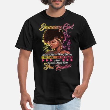 Color Guard january girl know more than she say thinks more th - Men's T-Shirt