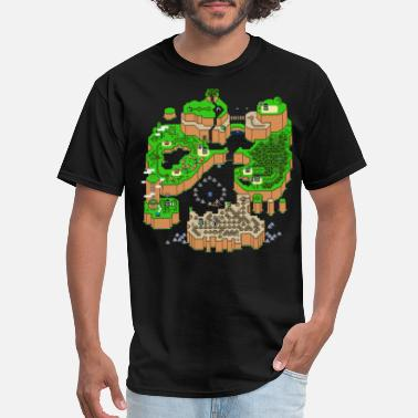 Felix Selection Super Mario World Map - Men's T-Shirt