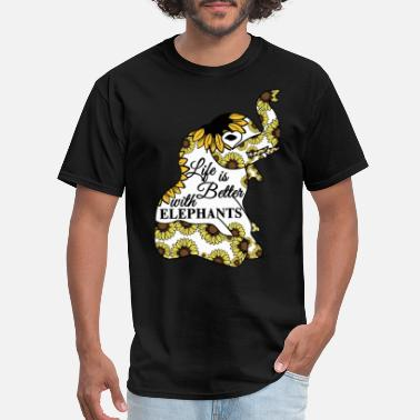 e9596341 Funny Disney life is better with elephants flower sunflower ele -  Men's. Men's T-Shirt. life is better with elephants ...