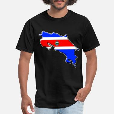Costa Rica Flag Costa Rica Flag Map - Men's T-Shirt