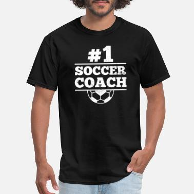 One Love Soccer Coach Soccer Hashtag Number One Gift - Men's T-Shirt