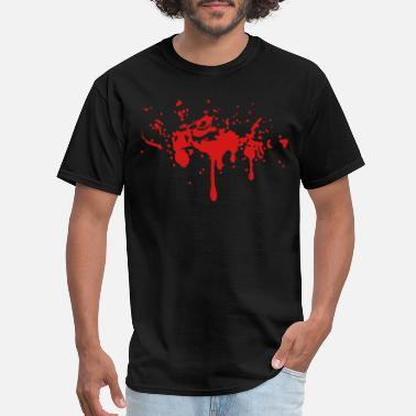Blood Stained BLOODY TWILIGHT SPLATTER BLOOD STAIN Vector - Men's T-Shirt