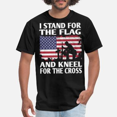 Stand I Stand For The Flag And Kneel For The Cross T Shi - Men's T-Shirt