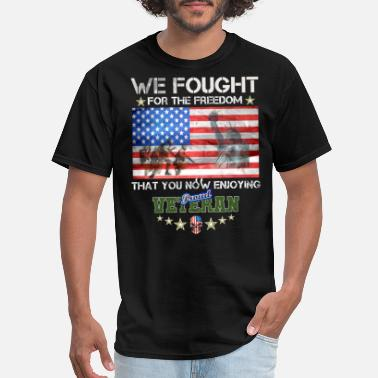Iraq War Veteran Fought For Freedom US Army - Men's T-Shirt