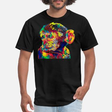 Macaque Monkey Barbary Macaque Monkey Color Designed - Men's T-Shirt