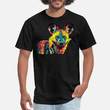 African Wild Dog African Wild Dog Colored Design - Men's T-Shirt