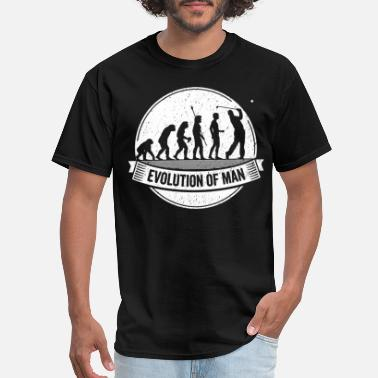 Golfer Funny Golfer: Graphic Golf Evolution Golfing Shirt - Men's T-Shirt