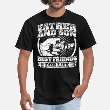 Father And Son Father And Son Matching Gift Family Dad Fist Bump - Men's T-Shirt