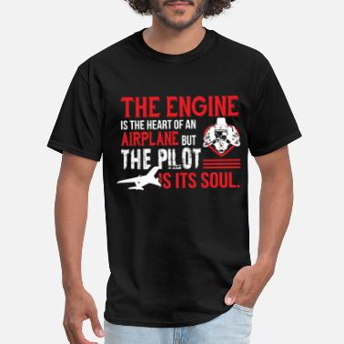 Airplane-heart-love The Engine Is The Heart Of An Airplane T Shirt - Men's T-Shirt
