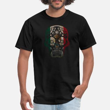 Mexican Mexican Design Mexican Flag Design For Mexican Pride Skull - Men's T-Shirt