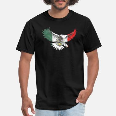Mexican Design Flying Eagle Mexican Design Mexican Flag Design For Mexican Pride OUtline - Men's T-Shirt