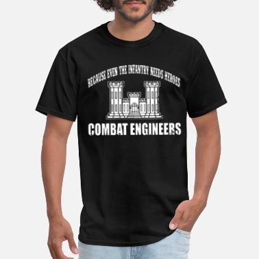 Combat Bachelor Party Because even the infantry needs heroes combat engi - Men's T-Shirt