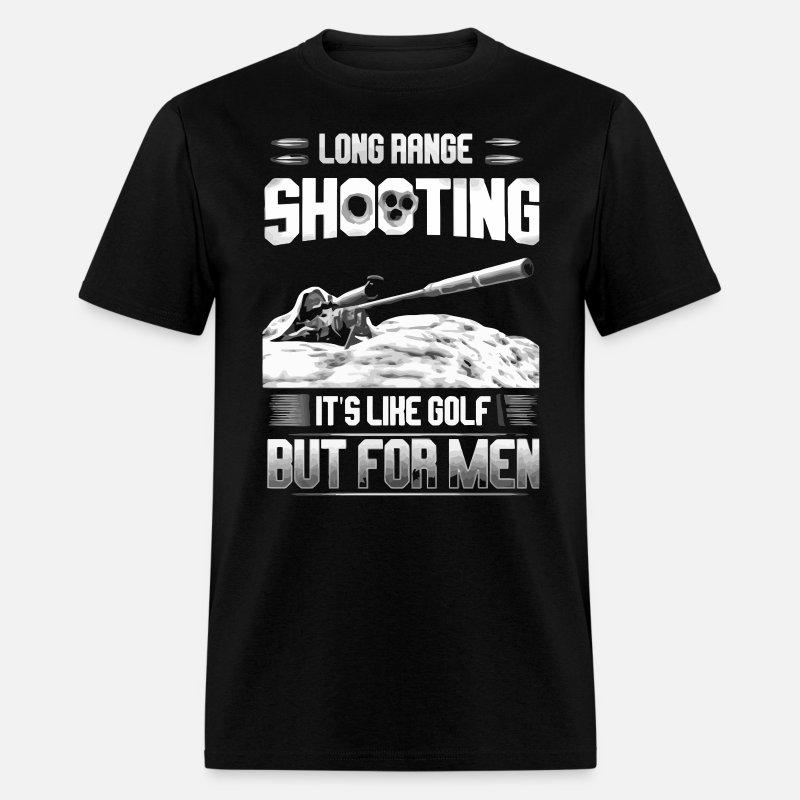 15f0a17c0 Long range shooting It's like golf but for men Men's T-Shirt | Spreadshirt