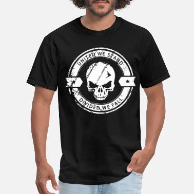 United We Stand united we stand divided we fall skull - Men's T-Shirt
