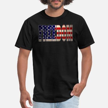 Drink American American Drinking Design Freedom - Men's T-Shirt