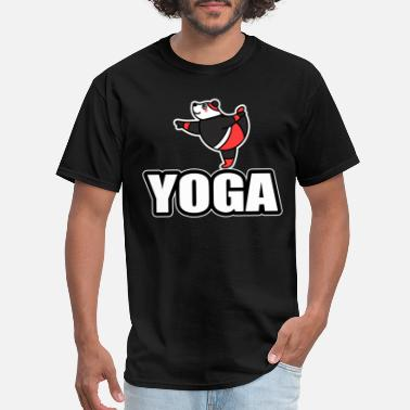 Panda Yoga yoga panda bear gift love meditate sport relax - Men's T-Shirt