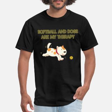 Xxx Dog softball and dogs are mytherapy dog t shirts - Men's T-Shirt