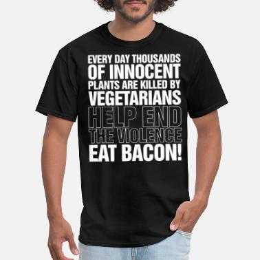 Eat Bacon Mens Funny Chef Bbq Fathers Day Birthday - Men's T-Shirt