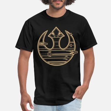 The Last Jedi Star Wars Last Jedi Gold Platinum Rebel Fleet Logo - Men's T-Shirt
