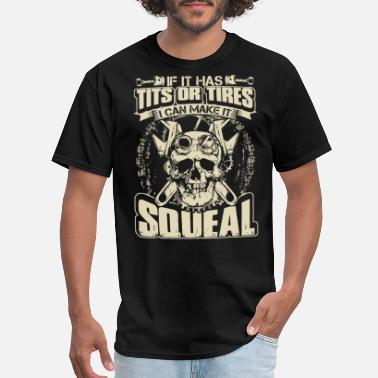 if it has tits or tires i can make it squeal mecha - Men's T-Shirt