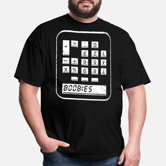 BOOBIES CALCULATOR Graphic Tshirt Funny Maths Geek Nerd Retro Calculator