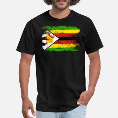 Zimbabwe Zimbabwe Shirt Gift Country Flag Patriotic Travel Africa Light - Men's T-Shirt