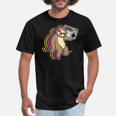 Sloths Sloth Walking Radio Music Ghetto Blaster Gift - Men's T-Shirt
