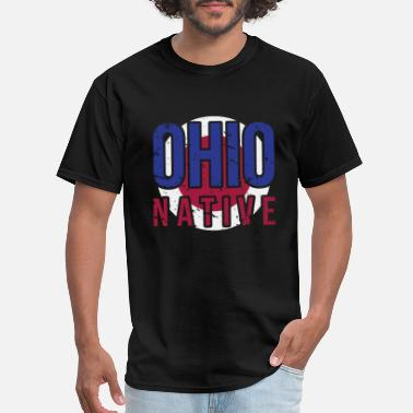 Vintage Ohio Pride OH Ohio Native Gift for Home State Pride - Men's T-Shirt