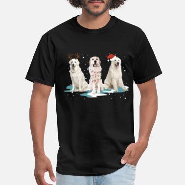 ef8cee404 great pyrenees christmas snow animals dog - Men's T-Shirt