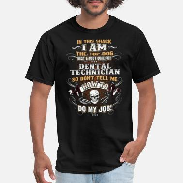 Dental Dental Technician Shirts for Men, Job Shirt, Skull - Men's T-Shirt