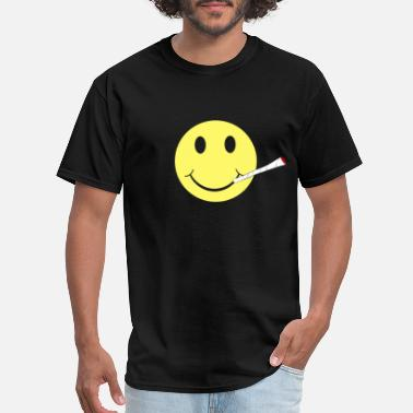 Joint Birthday Party Smile Joint Smoker Cannabis Ecstasy Rave Gifts - Men's T-Shirt