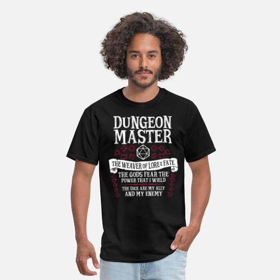 Master T-Shirts - Dungeon Master, The Weaver of Lore & Fate - Men's T-Shirt black