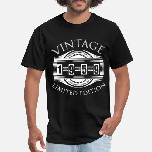 Mens T Shirt1959 50 Years Old Vintage 50th Birthday Gift