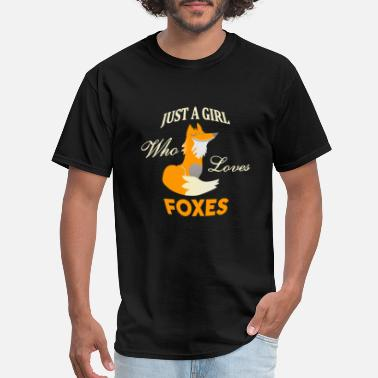 Just A Girl Just A Girl Who Loves Foxes T-Shirt - Men's T-Shirt