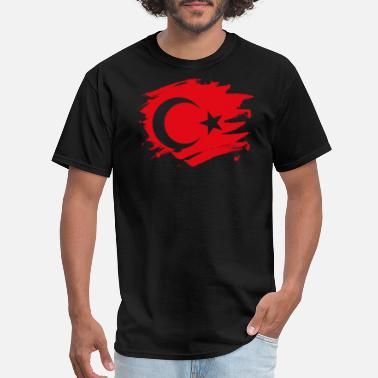 Turkey Flag Turkey Paint Splatter Flag Turkish Pride Design - Men's T-Shirt