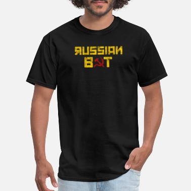 Russian Hammer Funny USA Meme Hacker Spy Russian Bot Hammer - Men's T-Shirt