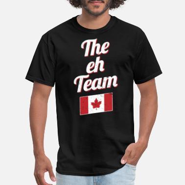 6412c719e2b69e Canadian Eh The EH Team Canada Funny Canadian Flag Graphic - Men  39 s