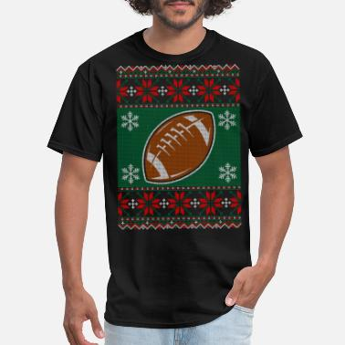 Ugly Christmas Rugby Rugby Ball Ugly Christmas Sweater - Men's T-Shirt
