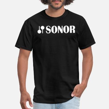 Sonor Sonor Drums Music Instrument NEW Tee BLACK RED Dru - Men's T-Shirt