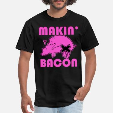 Porn Spiders Makin Bacon Pig Sex Yum Delicious Food Porn Paleo - Men's T-Shirt