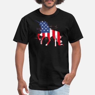 Cute Patriotic 4th of July American Flag Patriotic cute unicorn - Men's T-Shirt
