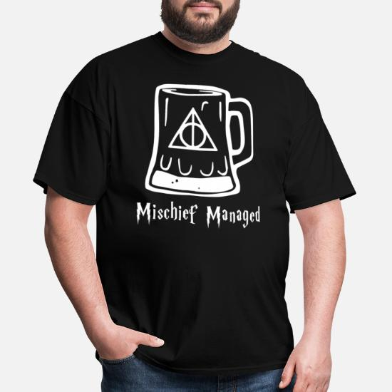 c47a07f0a Harry Potter Butter Beer Mischief Managed Iron On Men's T-Shirt ...