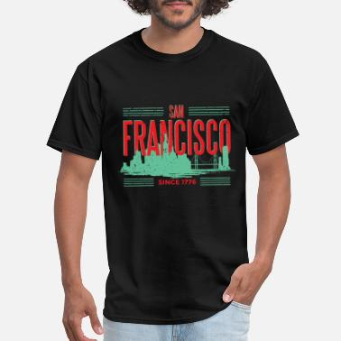 San SAN FRANCISCO GREEN SKYLINE - Men's T-Shirt