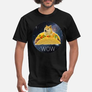Wow Meme Doge Taco Wow - Men's T-Shirt