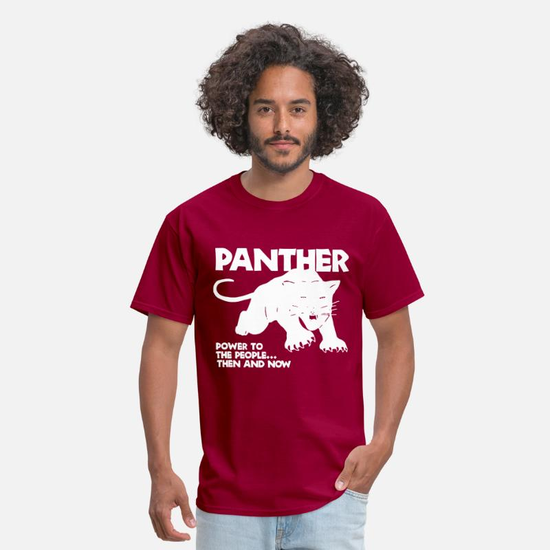 Black Panther Party Cotton Malcolm Hip Hop Cat Mens T Shirt