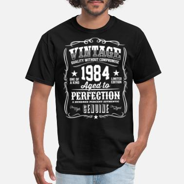 1984 Vintage 1984 Aged to Perfection White Print - Men's T-Shirt