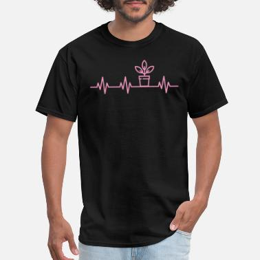 Grass Potted Plant Lifeline Heartbeat Funny Plant Lover - Men's T-Shirt